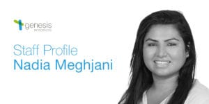 Nadia Meghjani Staff Profile, Genesis Biosciences