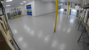 New antimicrobial flooring fitted in Genesis Biosciences US facility, July 2018