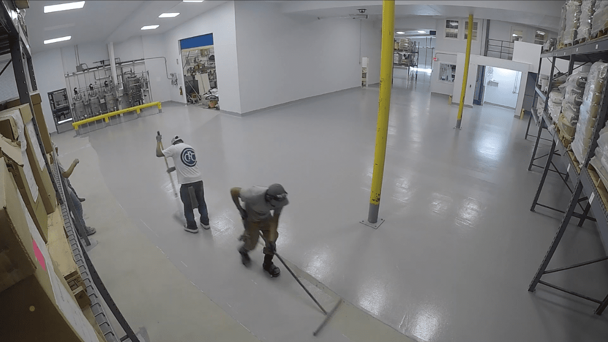 Time-lapse video: Watch our brand new antimicrobial floor being fitted