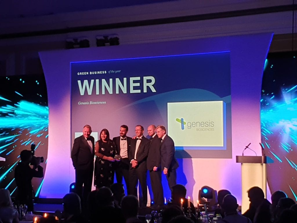 Genesis Biosciences is Green Business of the Year 2019!