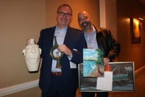 Casey Smallwood and Tony at 'Art with Heart'