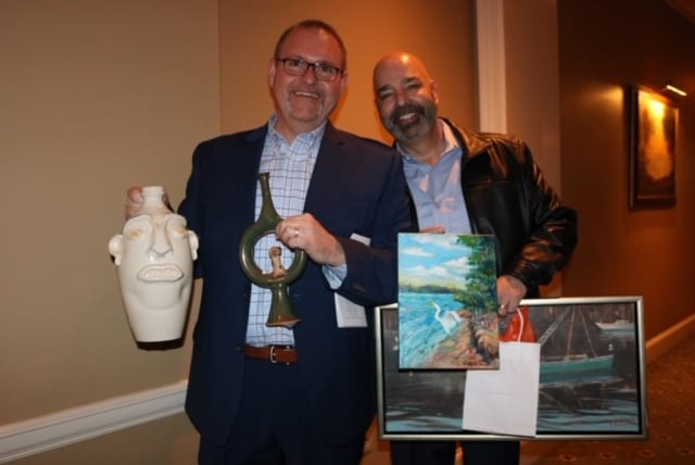 Casey Smallwood and Tony at 'Art with Heart'